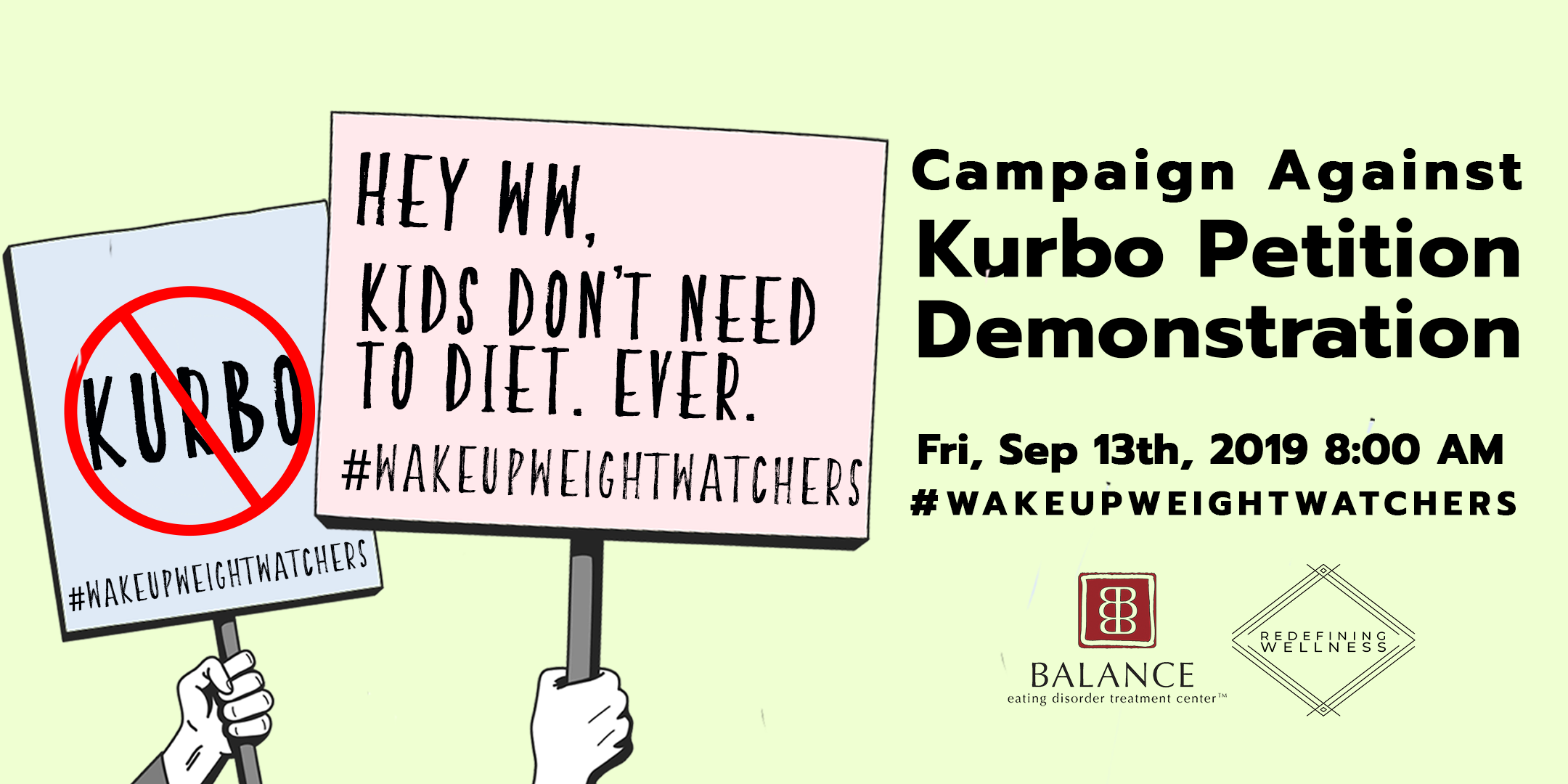 wakeupweightwatchers-ww-kurbo-petition-demonstration-nyc-balance-eating-disorder