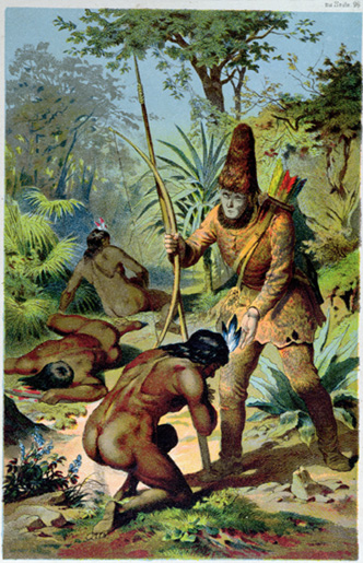 """Robinson Crusoe and Man Friday"""