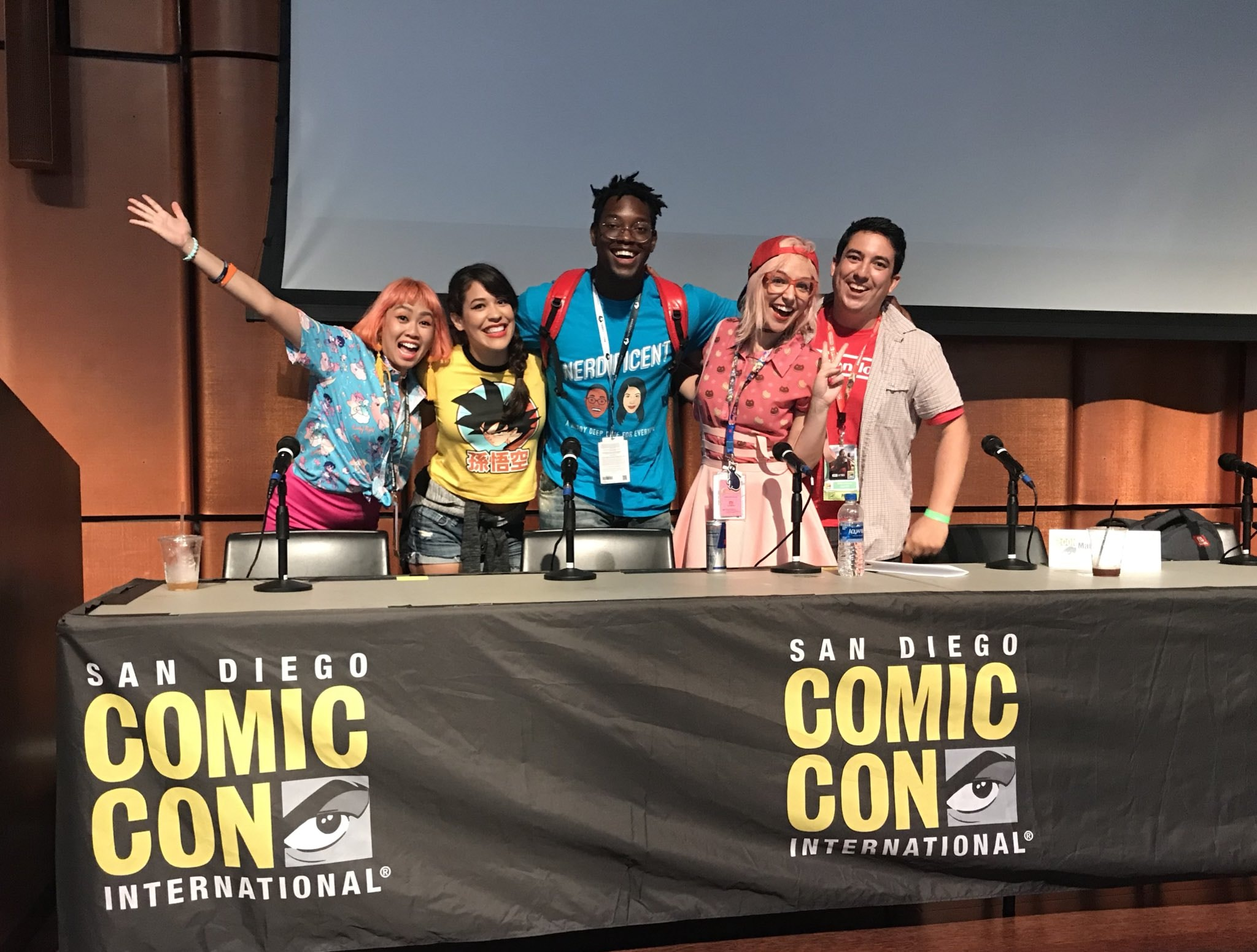"Hosting ""Podcasting and You"" panel at San Diego Comic Con"