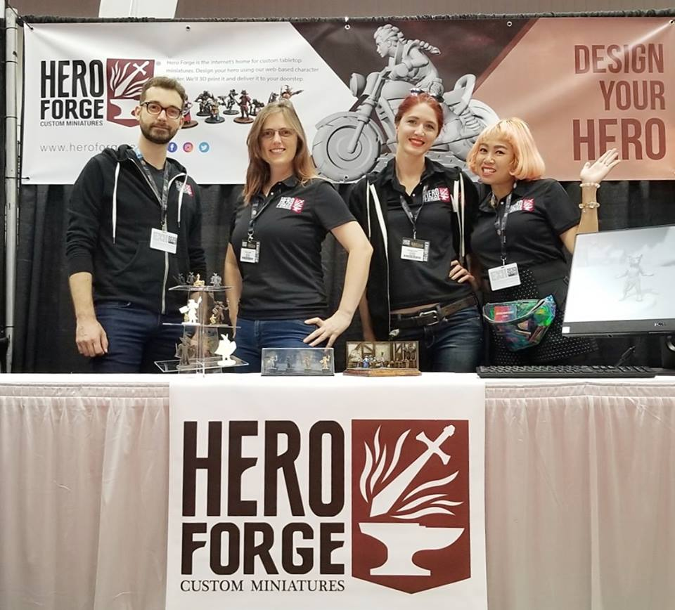 Hero Forge Miniatures booth at GenCon, Indianapolis