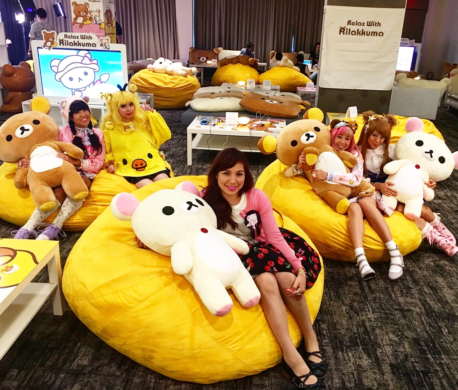 Rilakkuma Relax Lounge, Anime Expo, Los Angeles, CA