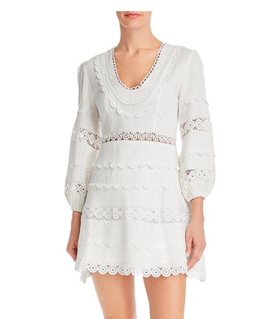 This dress by  Aqua  is giving me Zimmerman vibes without the Zimmerman price. The perfect summery white dress ♡
