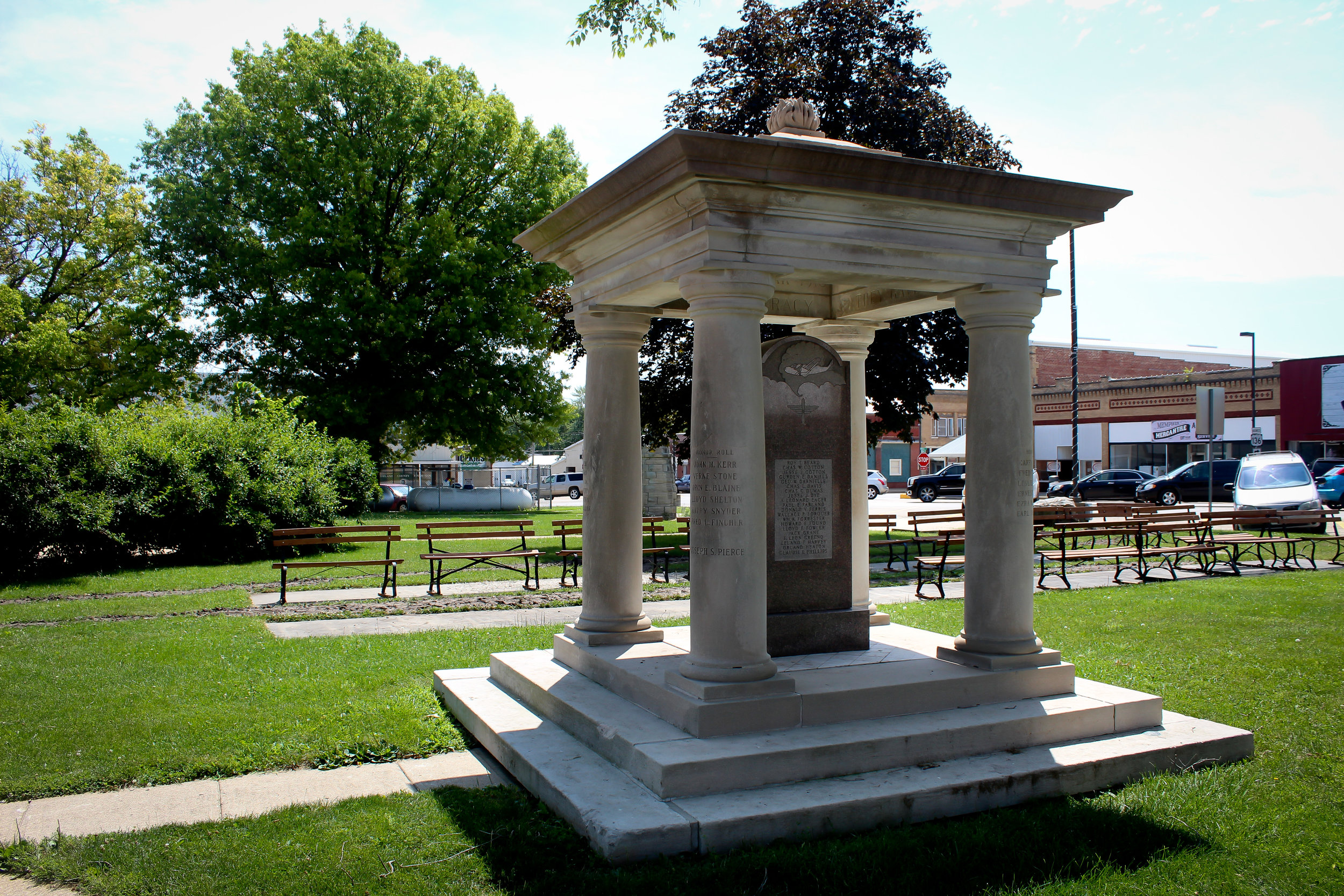 World War Two Memorial on Courthouse Lawn