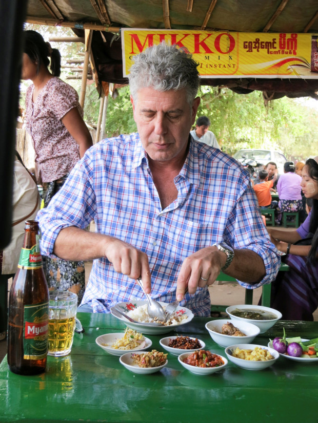 Anthony Bourdain in Myanmar (copyright CNN Parts Unknown)