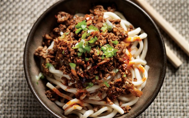 Use your noodle: MiMi's dandan noodles, a favourite dish in Singapore  (photo: Mike Cooper)