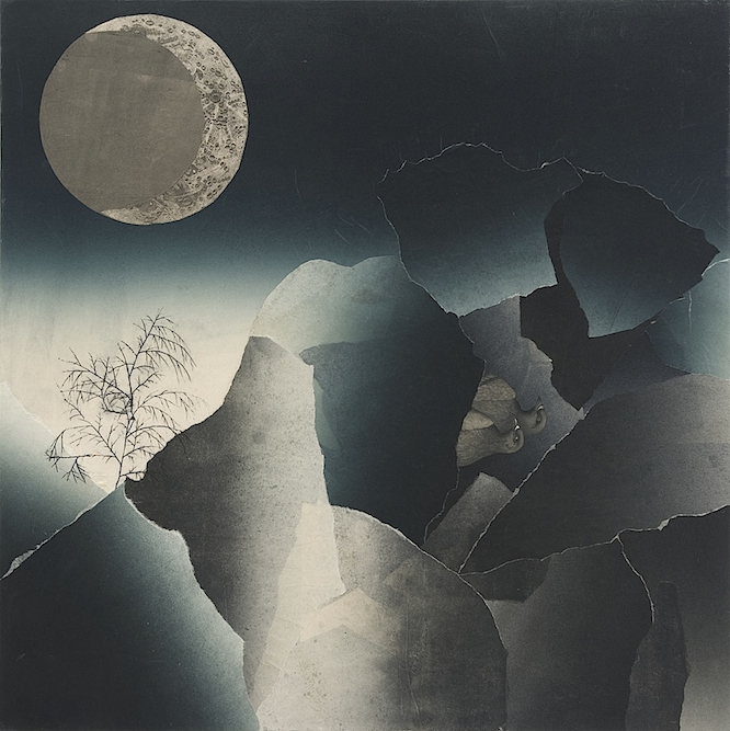 irds with Russian Sky, 2008, Oil, ink, xerox transfer and monoprint on paper laid on canvas, 24 x 24 inches. Private Collection New York.