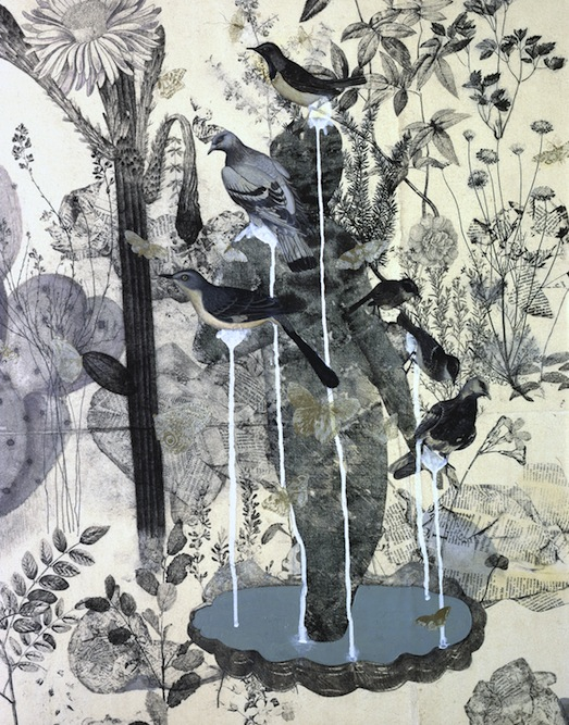 Garden with Fountain, 2005 (detail). Private Collection New York.