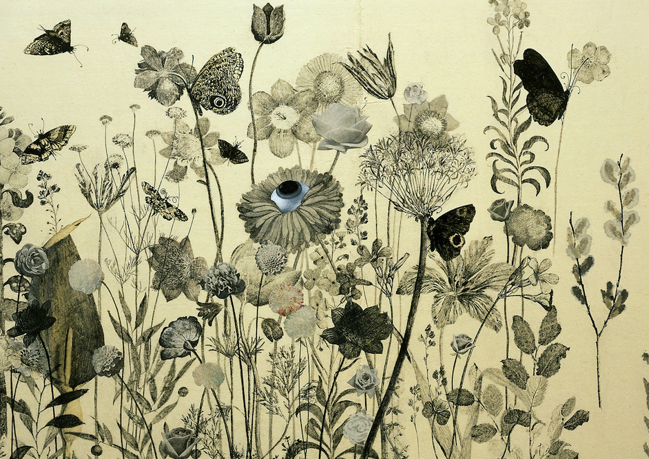 Wildflower with Butterflies, 2003 (detail). Private Collection New York.