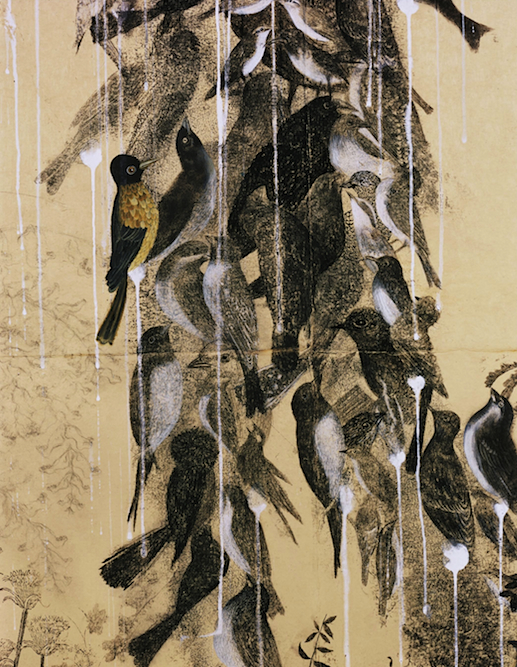 Flock, 2000 (detail). Collection of West Collection.