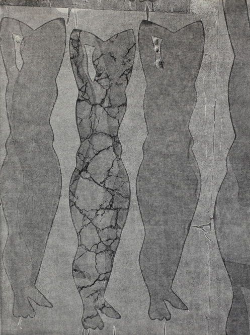 Figures, 2013 Graphite, xerox transfer and monoprint on paper, 30 x 22 inches