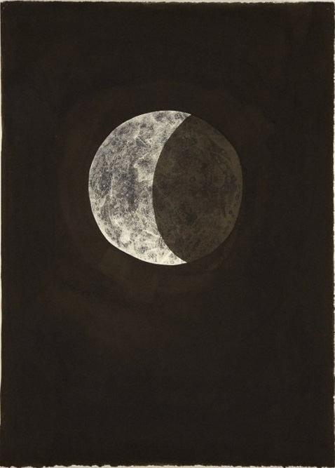 Moon I, 2004 Ink and xerox transfer on paper 15 x 11 inches
