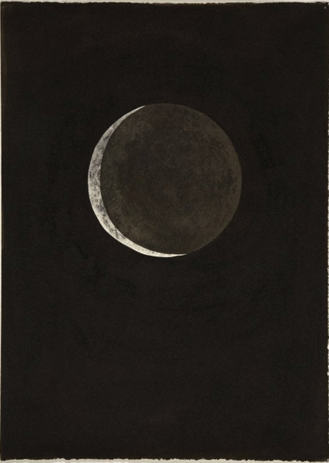 Moon II, 2004 Ink and xerox transfer on paper 15 x 11 inches