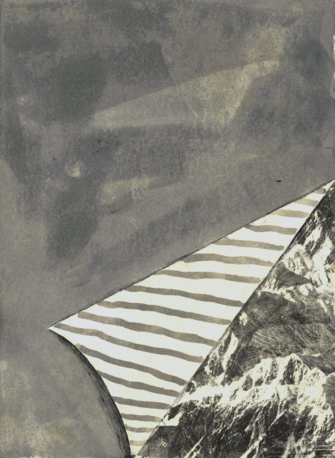 Mountain View, 2013 Charcoal, ink and transfer on paper, 15 x 11 inches