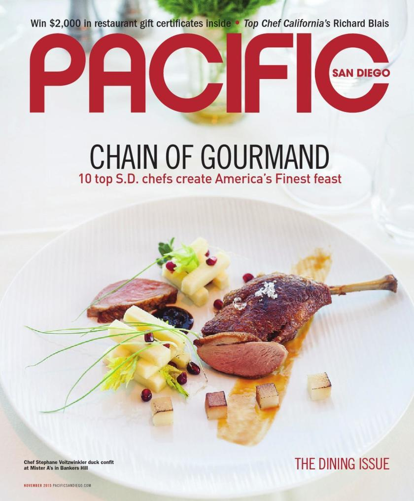 """Parma is featured in Pacific San Diego Magazine """"Chain of Gourmand"""""""