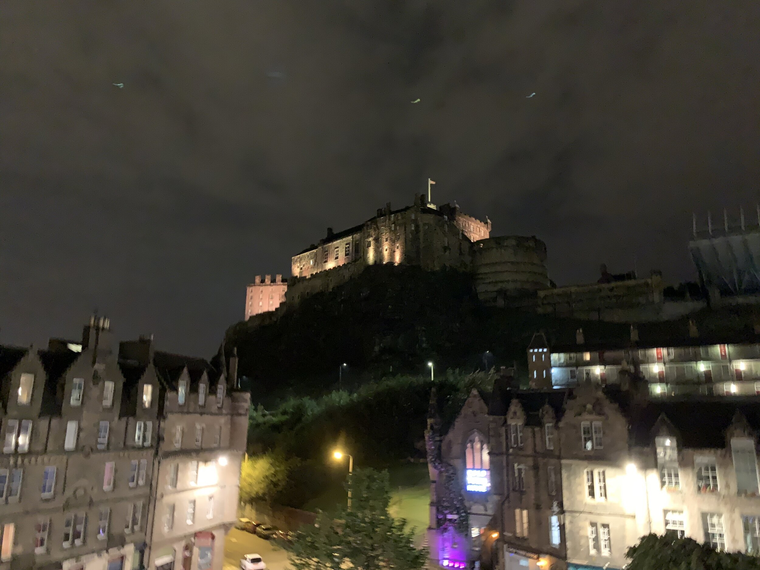 View of Edinburgh Castle from the Airbnb