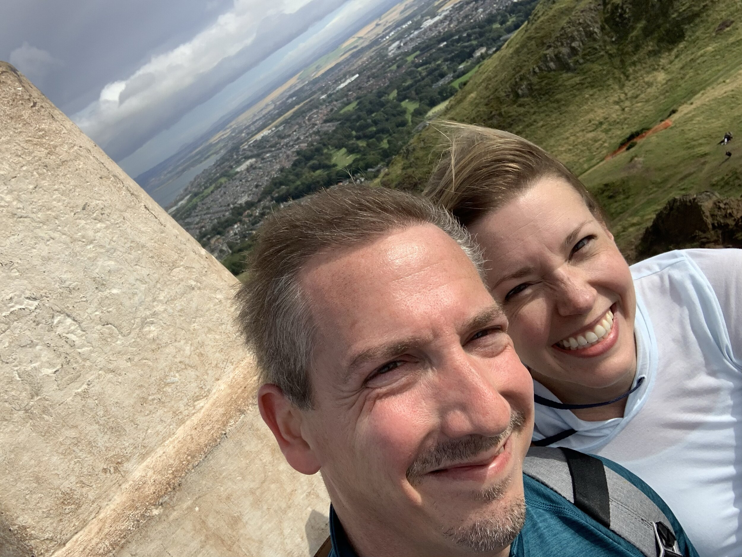 A Very Windy Selfie at Arthur's Seat!