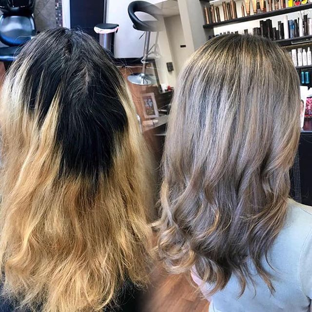 No filters, just lots of time and lots of  foils. @paulmitchell for the lightener, root smudge, and toner 👏🏼 #beforeandafter #swipeleft #transformationtuesday #transformation #babylights #foilwork #foilayage #framar #paulmitchell #pittsburghhairstylist #modernsalon #behindthechair #licensedtocreate @paulmitchelleast @paulmitchell @paulmitchellpro @paulmitchellus @sarahstylesyou USE LINK IN BIO TO BOOK WITH SARAH!!