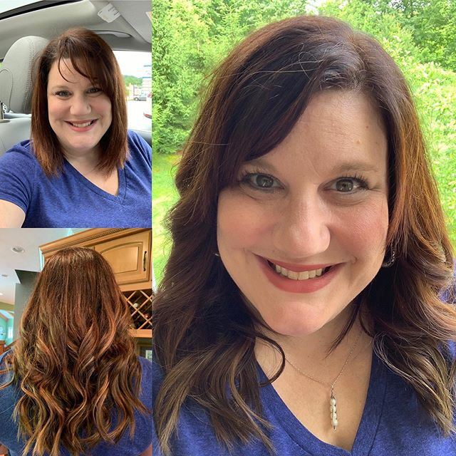 She always wanted long hair, so today she got it! @aquaextensions Tape in extensions are the best way to make your dreams of long hair come true! @envhairstudio #longhair #longhairdontcare #tapeinhairextensions #healthyhair #perfecthaircolor #balayage #shinyhair #nodamageextensions #calltoday📞