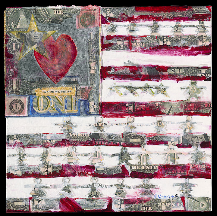 "Money Love | 14"" x 14"" 