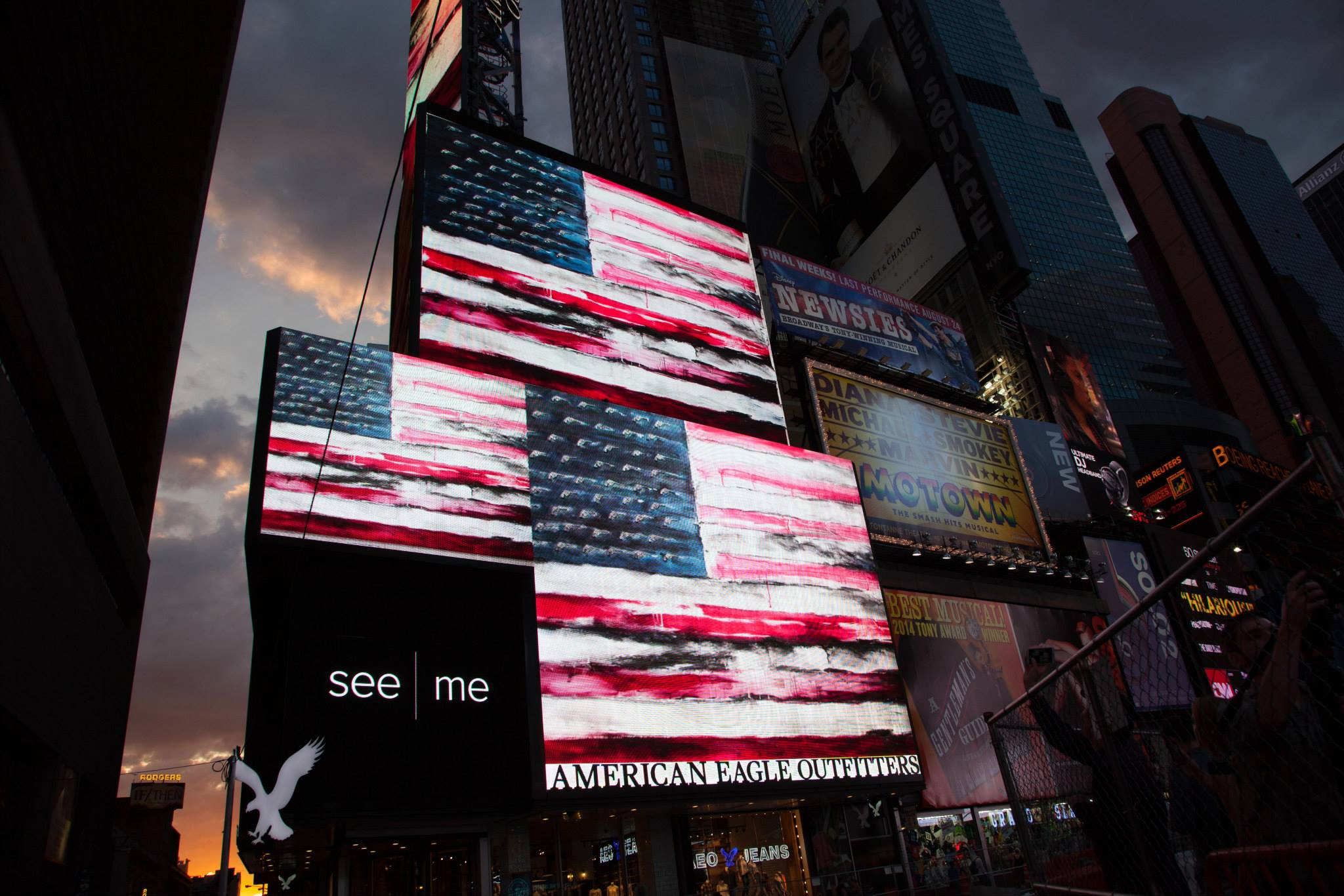 The United States of Gun on the Times Square Billboard