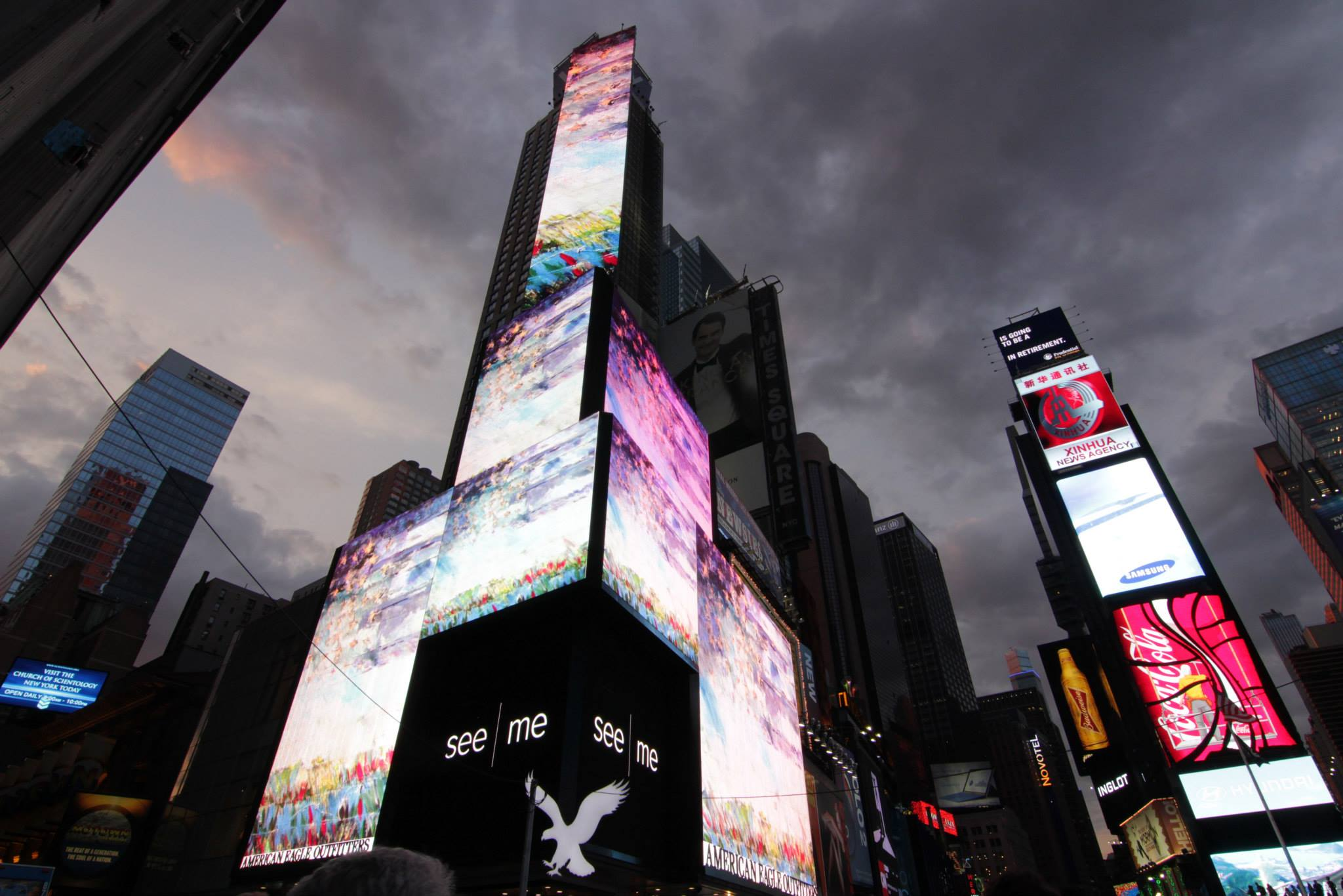 Another American Flag on the Times Square Billboard.