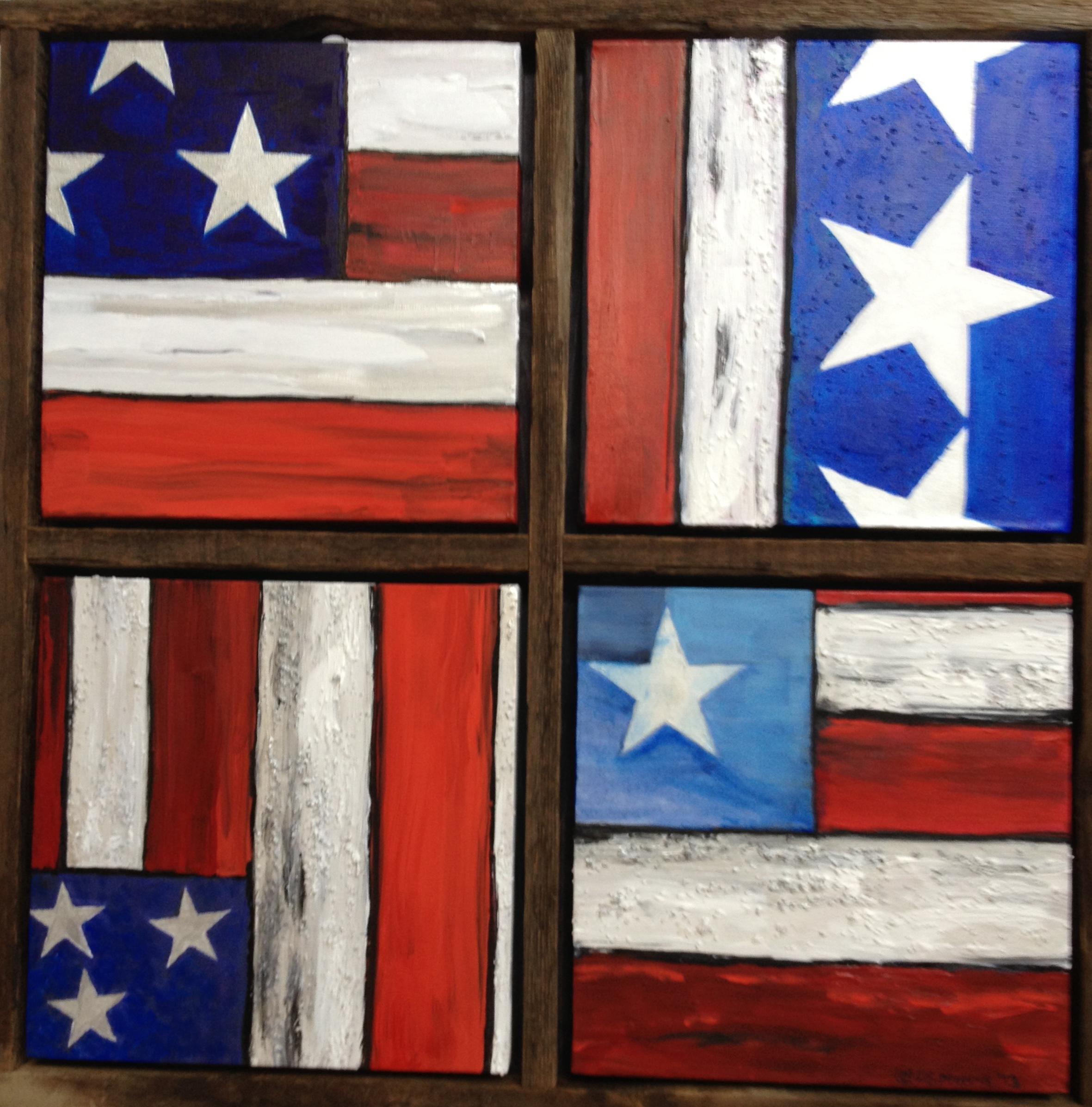 "I Pledge Allegiance | 26"" x26"" | Acrylic and Canvas on Canvas"