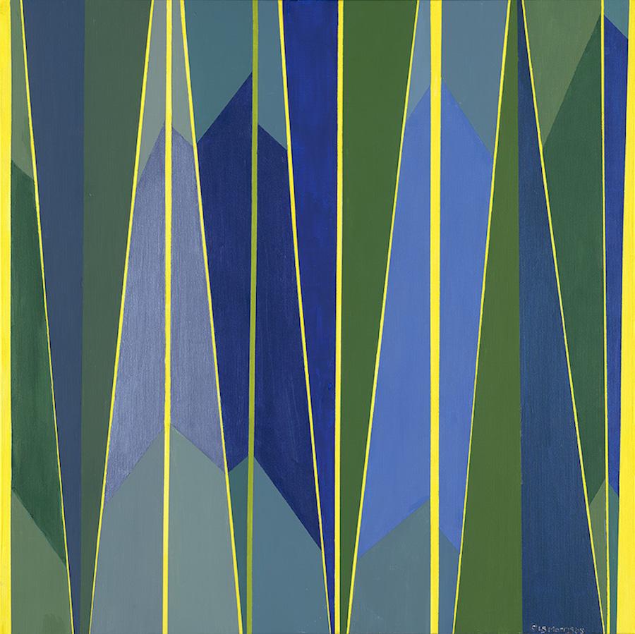 "Stripe Landscape | 30""x30"" | Acrylic on Canvas"