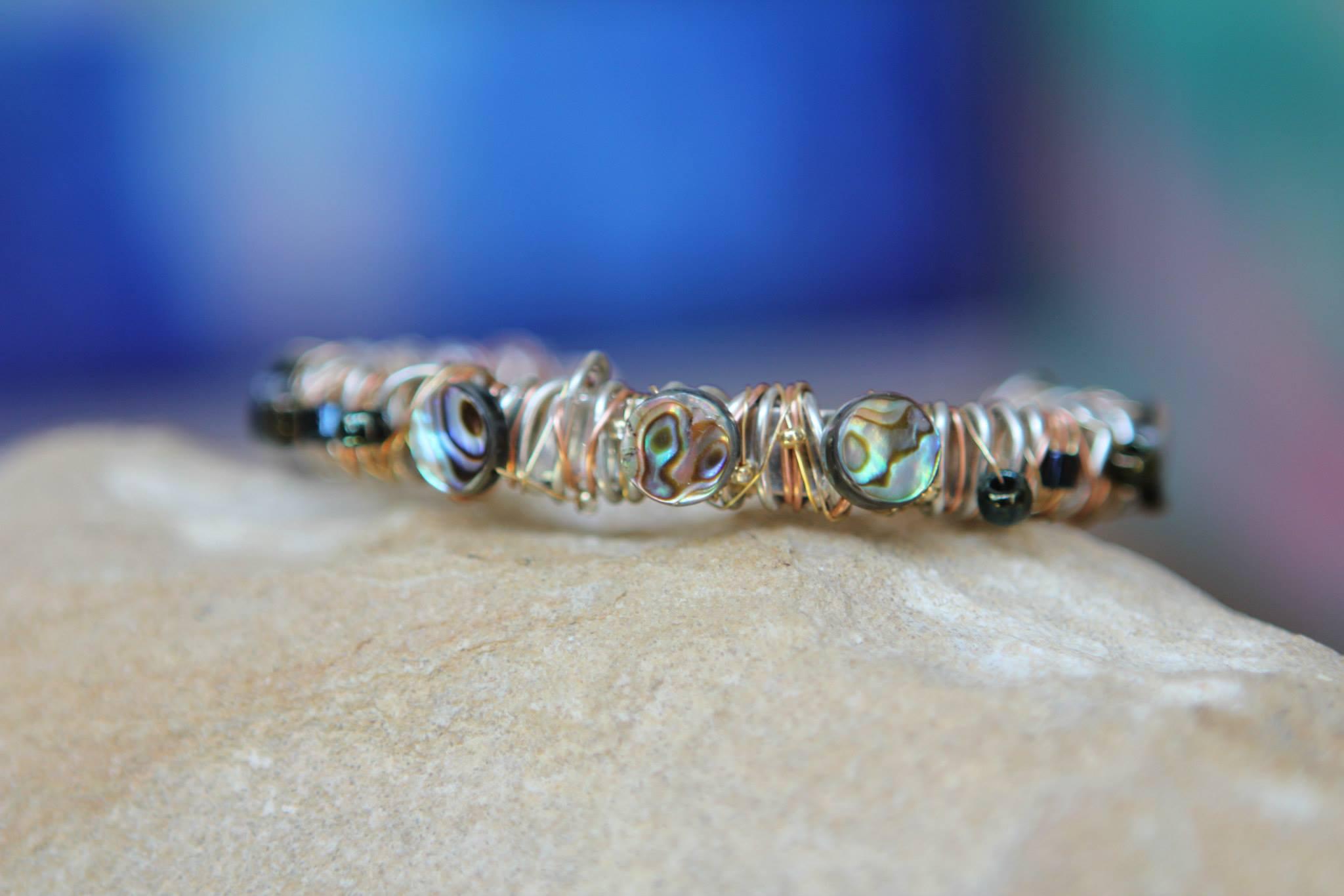 Cuff Bracelet on Sterling Silver Base | $250.