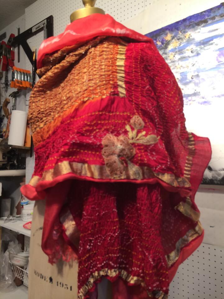 Sari and Silk backed Shawl | $850.