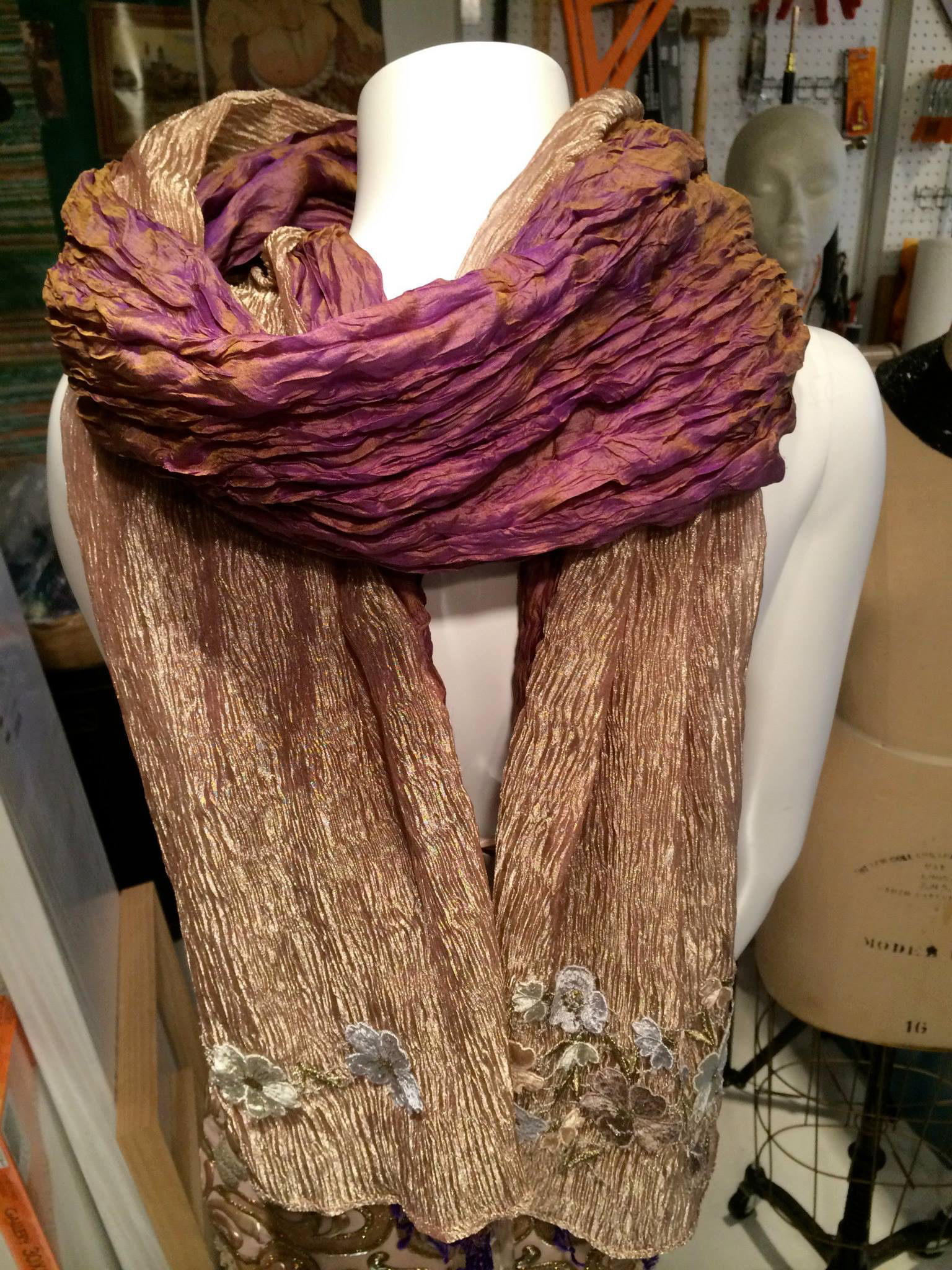 Double Sided Long Scarf | $350