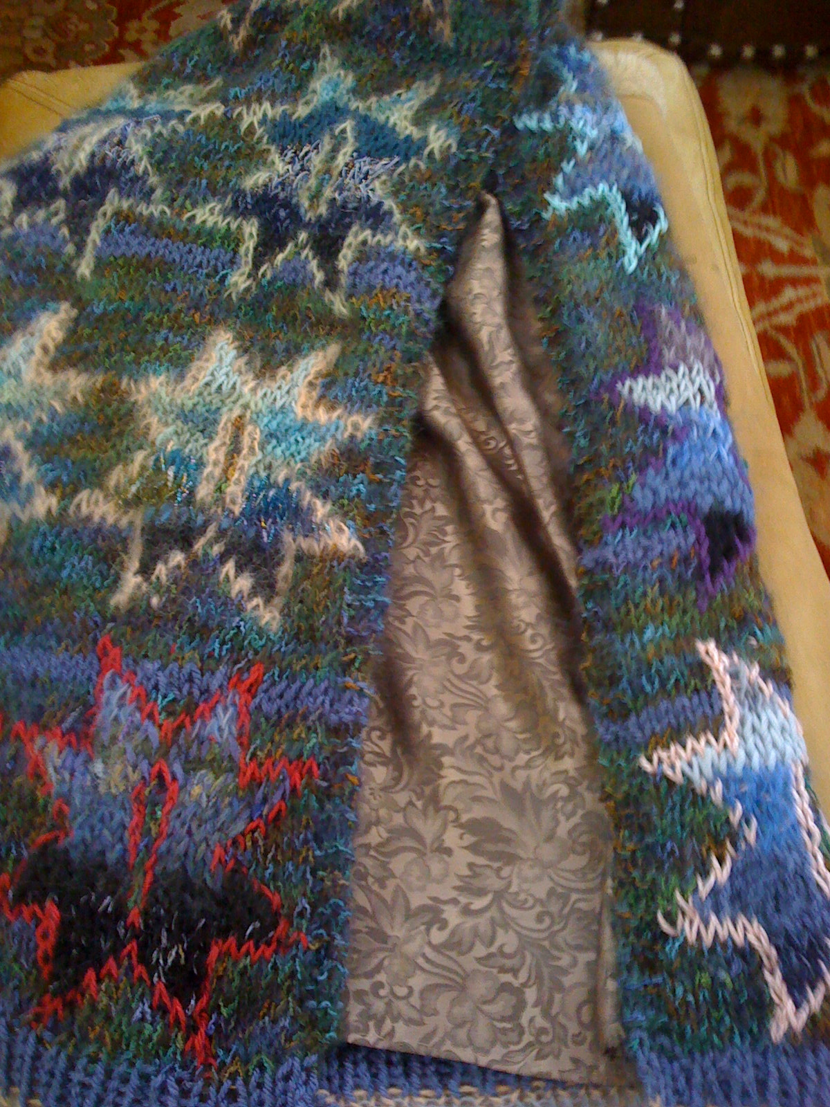 Hand Knitted and Silk Backed Star Scarf.jpg
