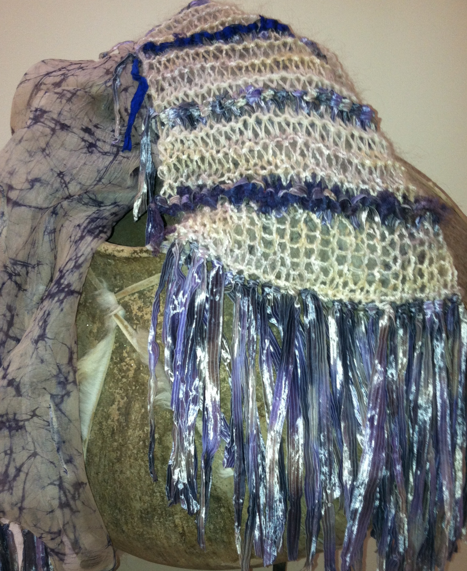 Hand Knitted and Silk Backed Ribbon Scarf.jpg