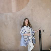 Hand Knitted Sweater with matching Scarf backed with Silk.jpg