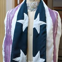 Hand Painted flag Scarf with Stars.png