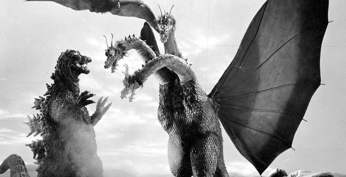 Godzilla lucha con Ghidorah