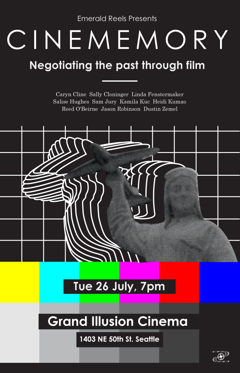 Cinememory: Negotiating Past Through Film, poster by Grzegorz Bolibok