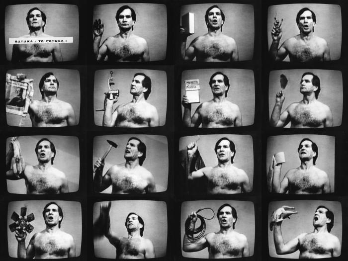Still from Jozef Robakowski's Cinema is Power (1985)