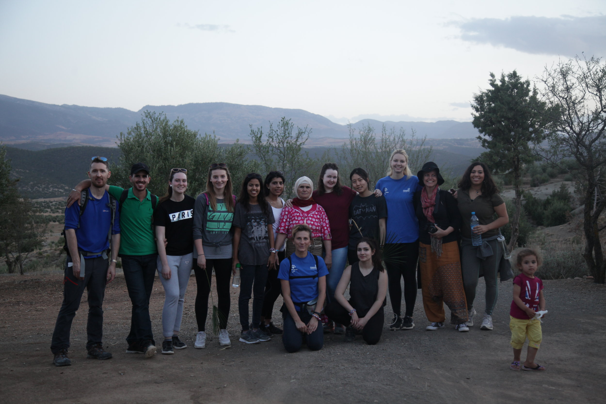 Changing Lives Programme on a long hike in rural Sefrou
