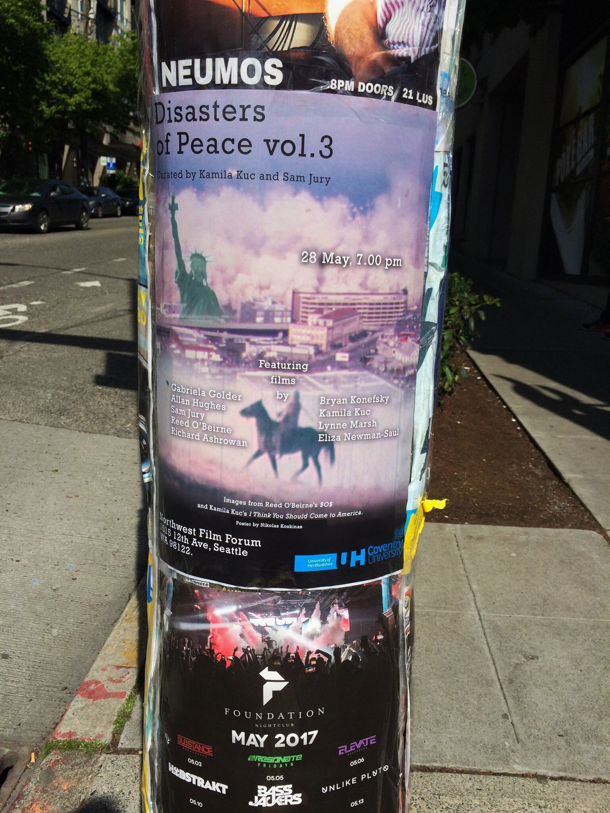 Disasters of Peace vol.3 poster, Seattle, WA