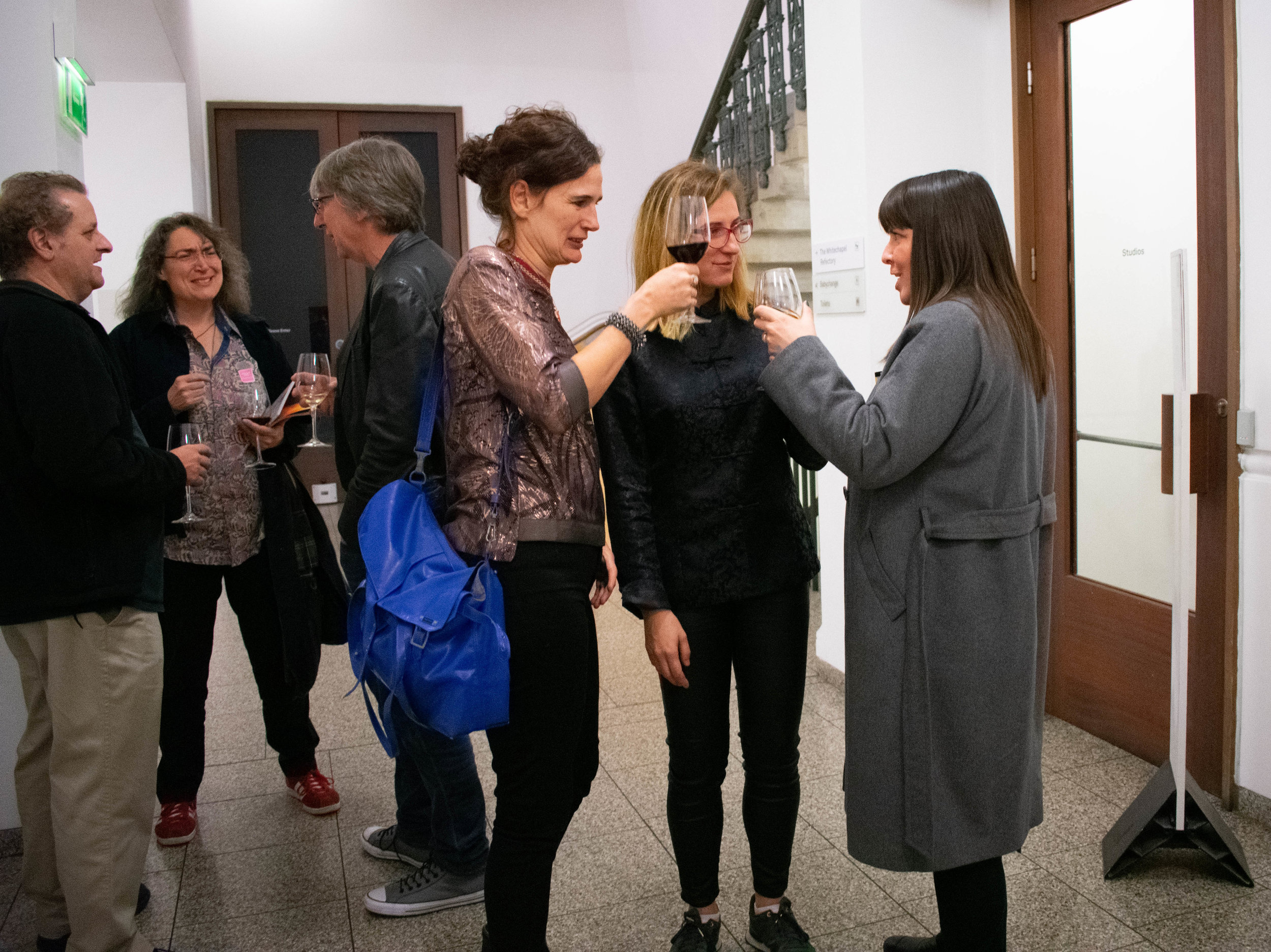 With Sam Jury and curator Sanna Moore. Photo by Photo by Zula Ra