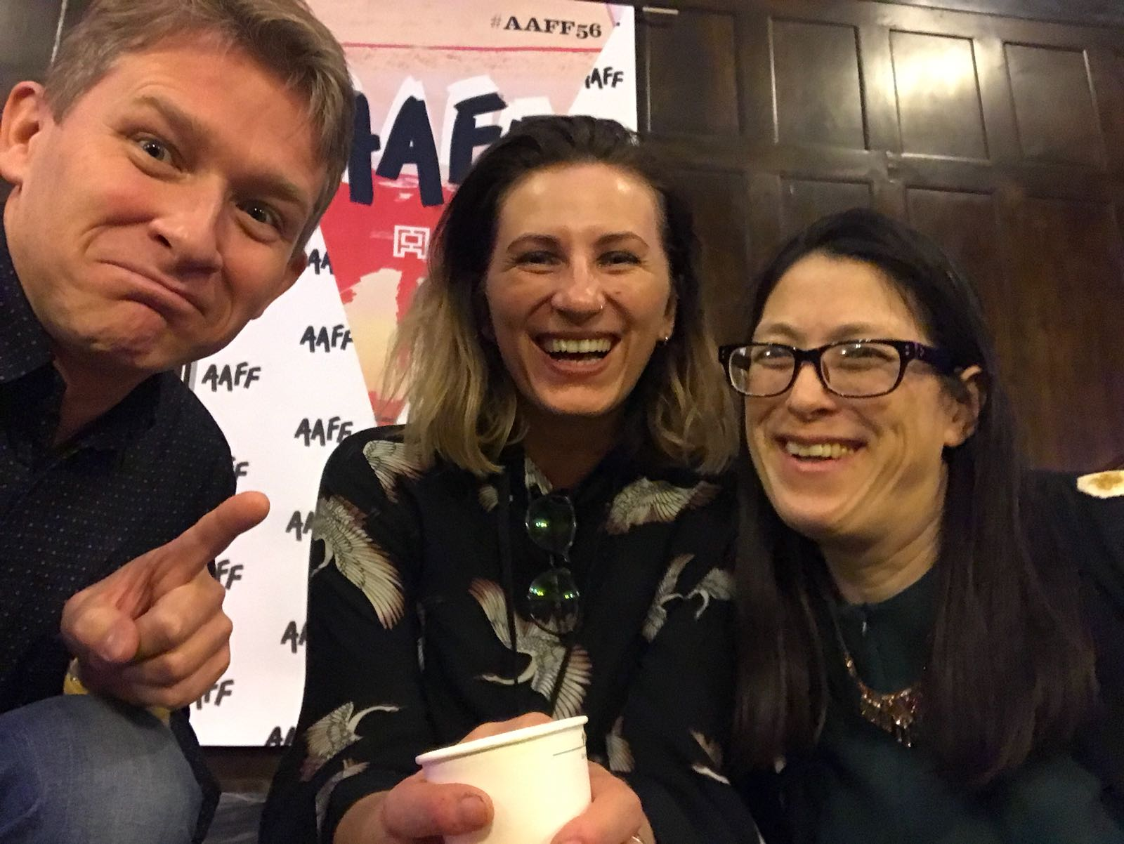 With filmmaker Zbig Czapla and Leslie Raymond, the Festival Director