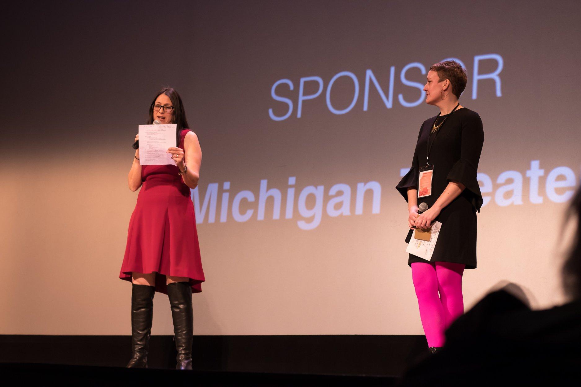 Leslie Raymond (Festival Director) and Katie McGowan (Artistic Director)