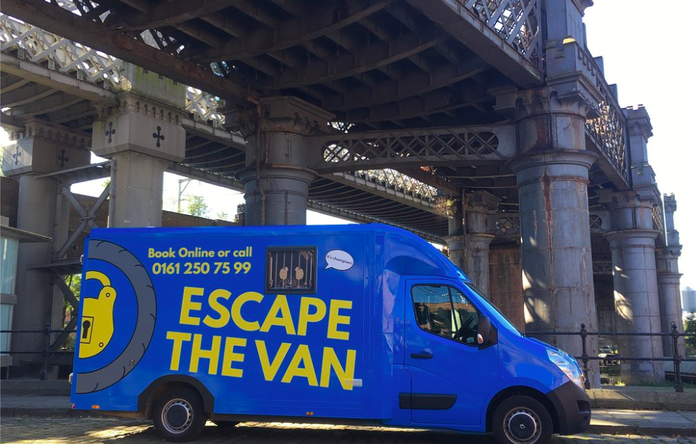 ESCAPE THE VAN - Escape The Van operates out of a large, blue, Vauxhall Luton box Movano van which has been converted into an immersive escape room experience.Once admitted to the game, you will be locked in. You will then have 60 minutes to work out how to escape, using props and clues to solve the puzzles to progress.This fast-paced, multiplayer strategy game is perfect as a reward for your team, an insightful team building activity or just a bit of fun to get them all talking!From £490 + VAT