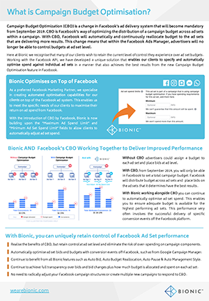 Facebook Campaign Budget Optimisation 2019 - Download our free guide