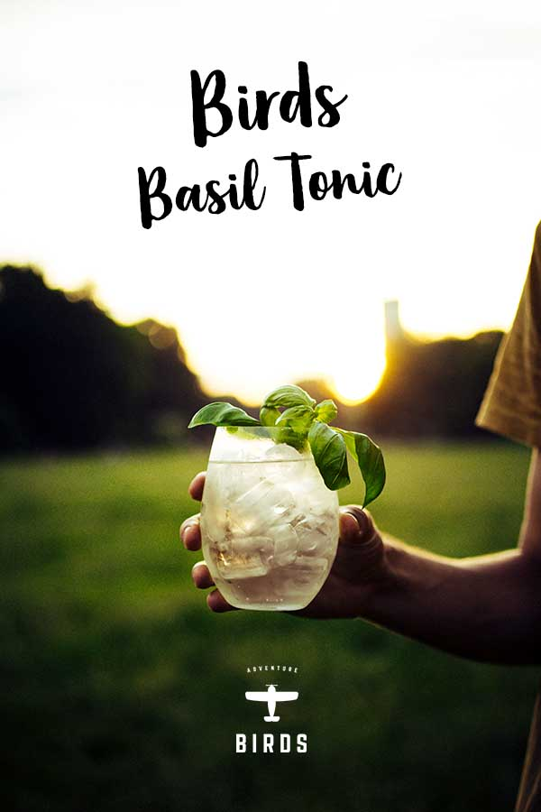 Signature ❤ Drink - 50 ml Birds Dry GinTop up with mild Tonic WaterGarnish: Basil