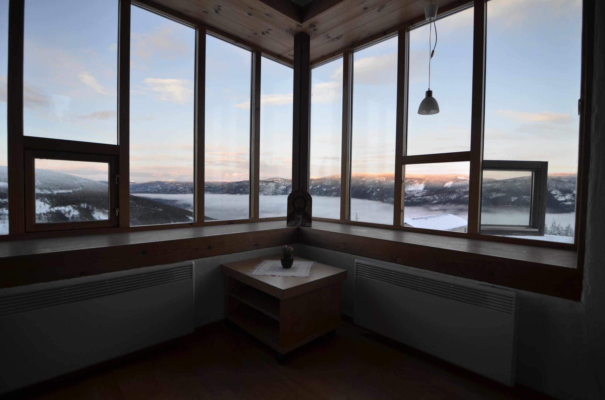 Utsikt fra Vip-suiten på Nylia