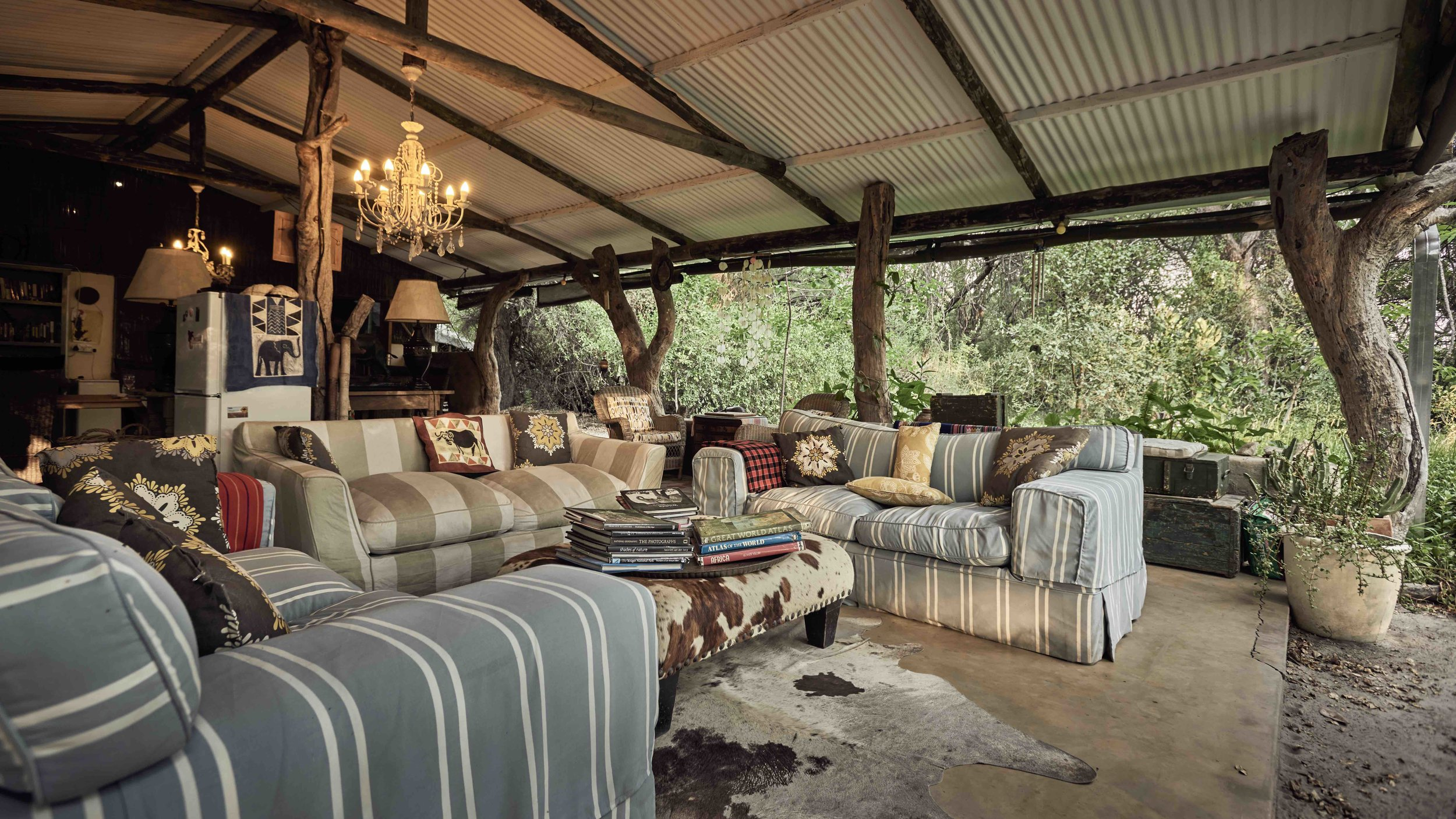 Relax in our lounge area open to the forest