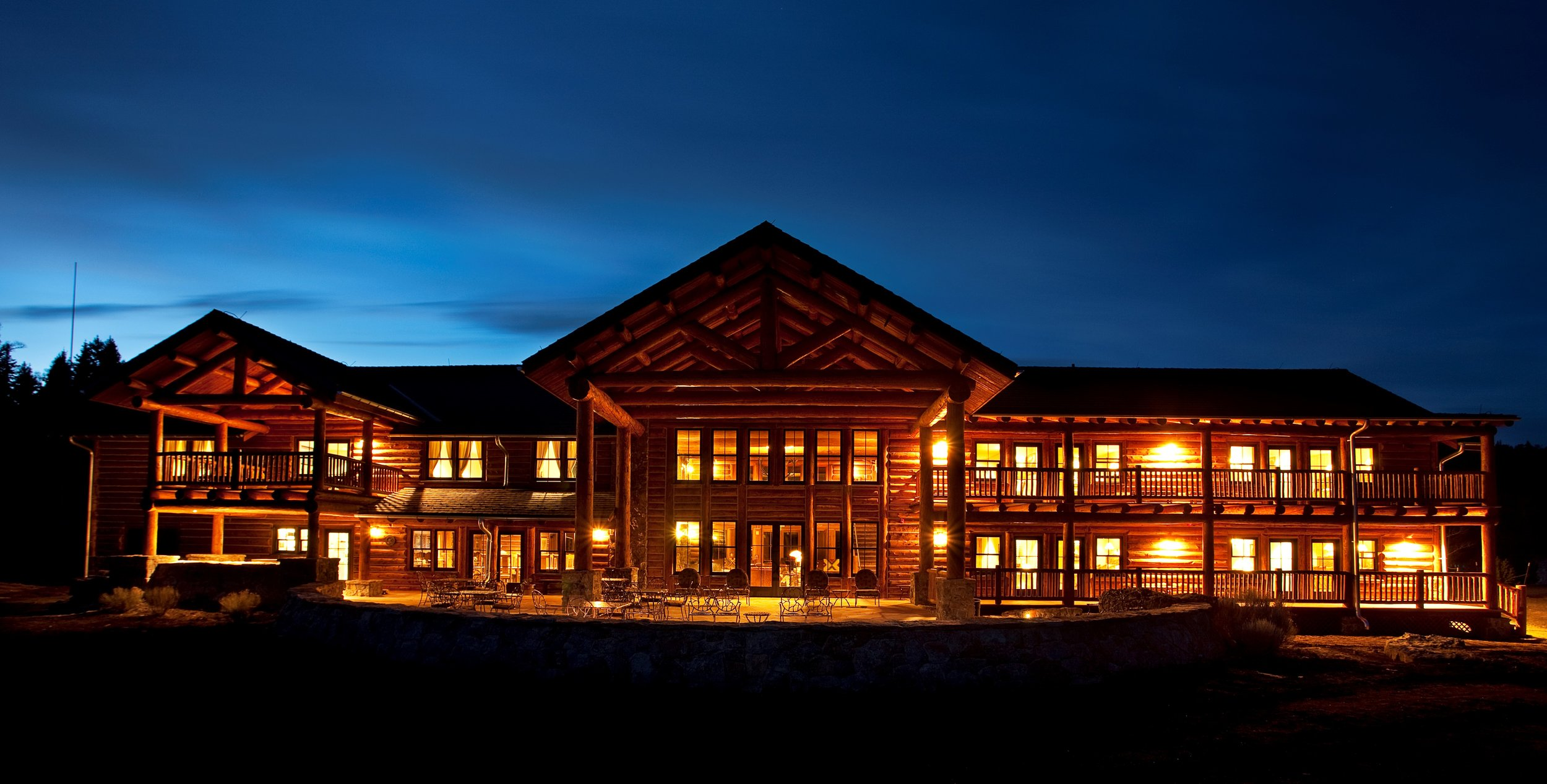 Costilla Lodge at Nightfall