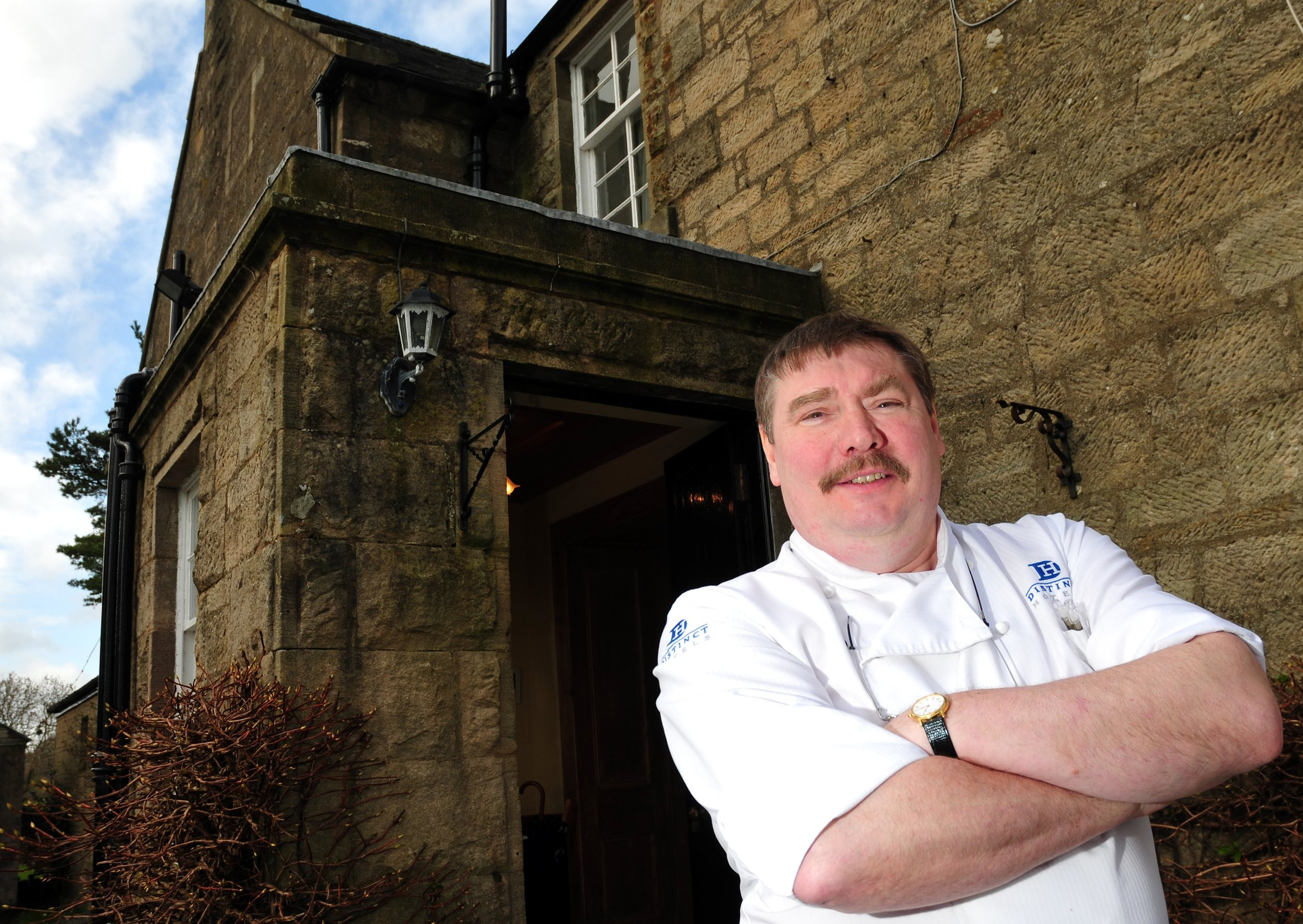 Chef Ian McAndrew at Blackaddie House Hotel