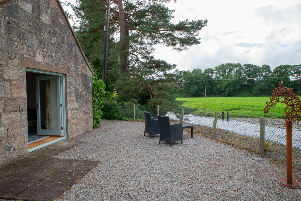Riverside Cottage - Sleeps 2.With french doors leading to a patio overlooking the beautiful river Nith, Riverside Cottage offers all the space and seclusion you need to relax and enjoy your surroundings.
